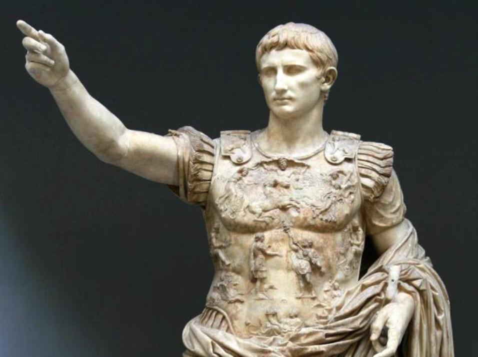 Augustus von Prima Porta (20-17 v. Chr.), aus der Villa Livia in Prima Porta, 1863